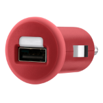 Belkin 1A USB Micro Car Charger - Red