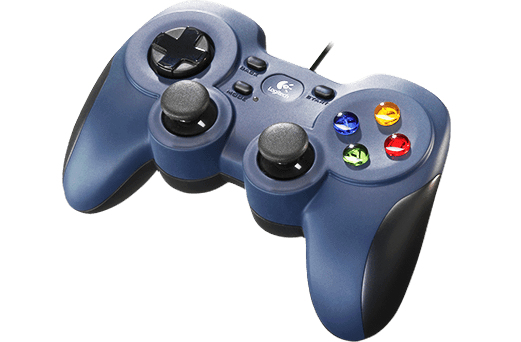 Logitech F310 Gamepad PC USB 2.0 Negro, Azul