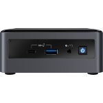 Intel NUC BXNUC10I7FNH2 PC/workstation barebone i7-10710U 1,1 GHz UCFF Zwart BGA 1528