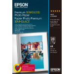 Epson Premium Semigloss Photo Paper, DIN A4, 251gsm², 20 Sheets