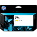 HP 728 130-ml Yellow DesignJet Ink Cartridge Original Amarillo