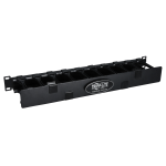 Tripp Lite SmartRack 1U High Capacity Horizontal Cable Manager - Finger duct with dual-hinge cover
