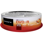 Sony DVD-R 4.7GB 25-SPINDLE