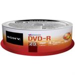 Sony DVD-R 4.7GB 25-SPINDLE 25DMR47SP