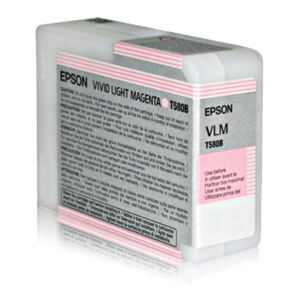 Epson C13T580B00 (T580B) Ink cartridge bright magenta, 80ml