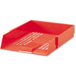 White Box CONTRACT LETTER TRAY RED