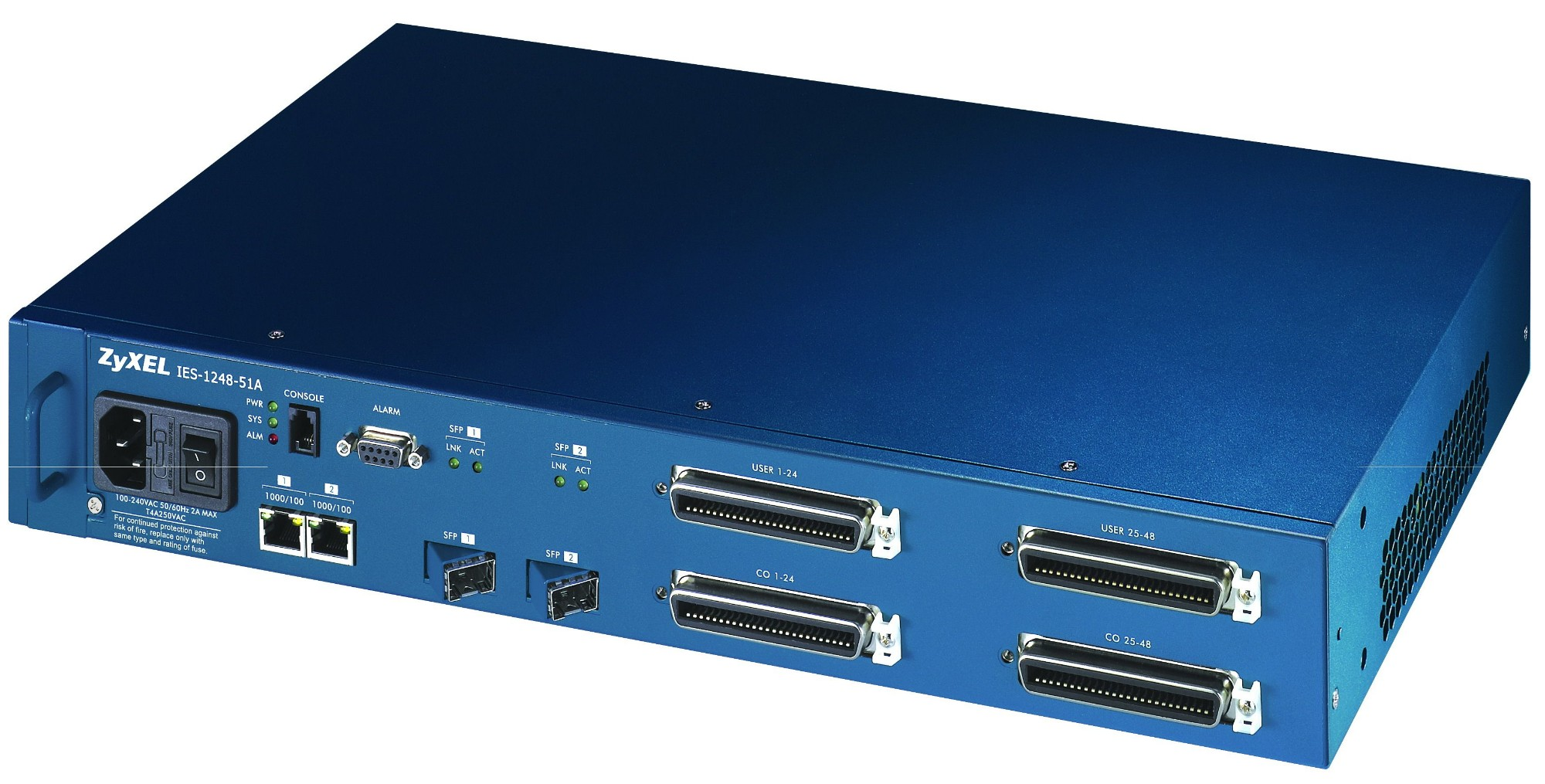 ZyXEL IES-1248-51A Ethernet LAN ADSL Black wired router - Wired ...
