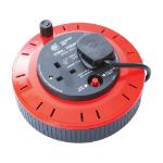 Videk 9058-25 2AC outlet(s) 25m Black,Red power extension