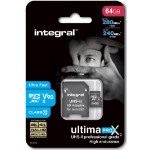 Integral 64GB microSDHC/XC memory card MicroSDXC Class 10 SLC
