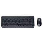 Microsoft Wired Desktop 600, DE USB QWERTZ Black