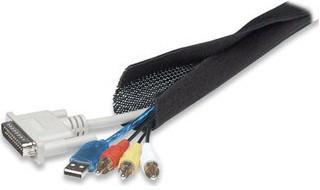 Manhattan Cable FlexWrap, Cable FlexWrap, Black, hook & loop