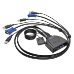 Tripp Lite 2-Port USB/VGA Cable KVM Switch with Cables and USB Peripheral Sharing
