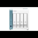 QNAP TS-431P3 Alpine AL-314 Ethernet LAN Tower Turquoise,White NAS TS-431P3-2G/48TB-N300