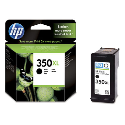HP 350XL Black Inkjet Print Cartridge Original Negro 1 pieza(s)