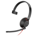 Plantronics Blackwire 5210 Monaural Head-band Black,Red