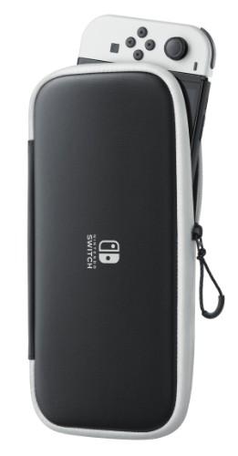 Nintendo 10008001 portable game console case Folio Polyester Black, White