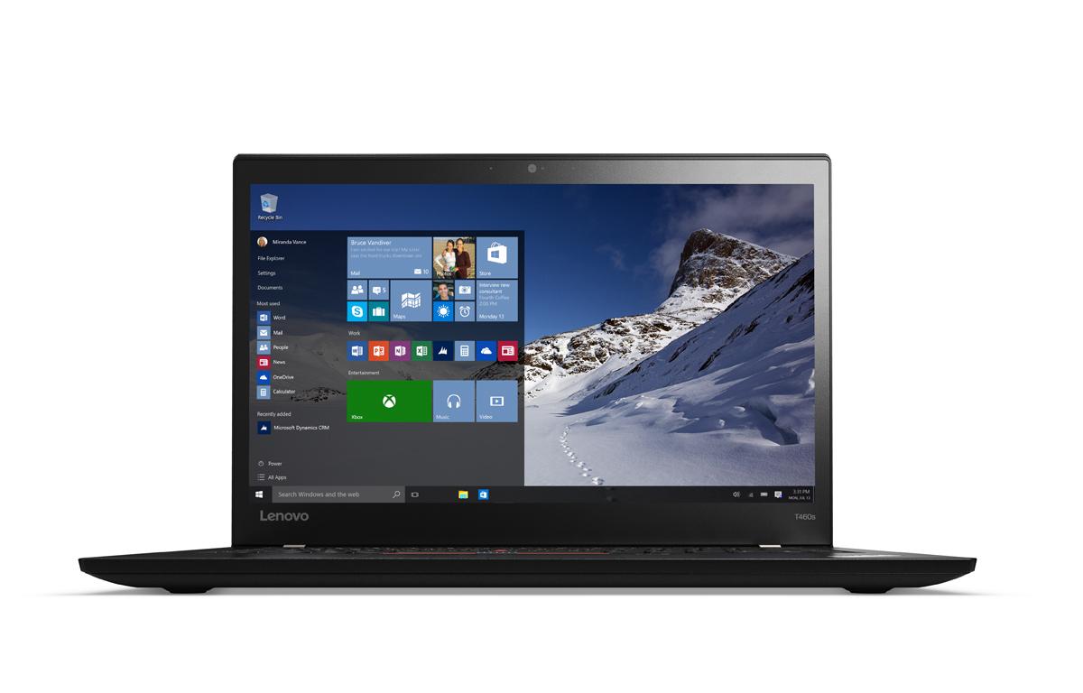 """Lenovo ThinkPad T460s 2.3GHz i5-6200U 14"""" 2560 x 1440pixels 3G Black"""