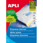 APLI 1273 LABELS A4 24UP SQUARE CORNERS 70.0X37.0 100 SHEETS