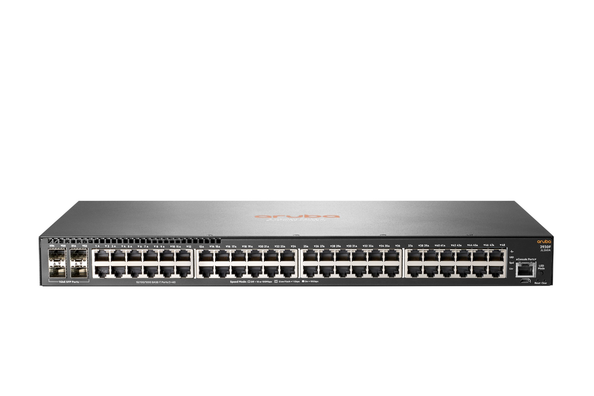 Hewlett Packard Enterprise Aruba 2930F 48G 4SFP Managed network switch L3 Gigabit Ethernet (10/100/1000) 1U Grey