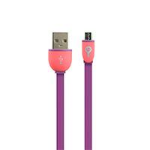 PERFECT CHOICE CABLE MICRO USB EASY LINE BY PERFECT CHOICE CABLE PLANO DE CARGA Y DATOS MORADO/ROJO dir