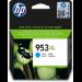 HP Cartucho de tinta Original 953XL de alto rendimiento cian