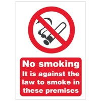 Stewart Superior No Smoking Premises Sign