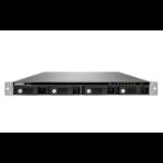 QNAP TS-453U-RP NAS Rack (1U) Ethernet LAN Black storage server
