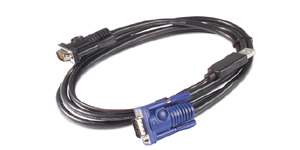 APC AP5257 KVM cable 3.66 m Black