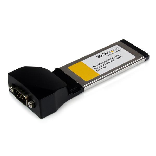 StarTech.com Tarjeta Adaptadora ExpressCard/34 de 1 Puerto Serie DB9 UART 16950 RS232 Express Card 34mm - Basada en USB