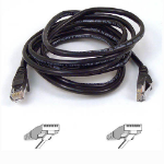 Belkin RJ45 CAT-5e Assembled UTP Patch Cable 1m black 1m Black networking cable