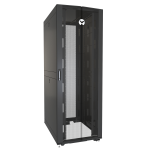Vertiv VR3357 rack cabinet 48U Freestanding rack Black, Transparent