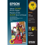 Epson Value Glossy - 10x15cm - 2x 20 sheets photo paper