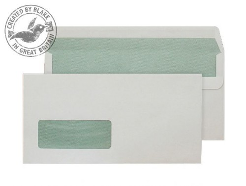 Blake Purely Environmental Wallet Self Seal Window Natural White DL 90gsm (Pack 500)