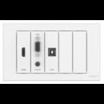 Vision TC3-PK socket-outlet Weiß