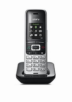 Unify OpenScape S5 IP phone Black,Silver Wireless handset