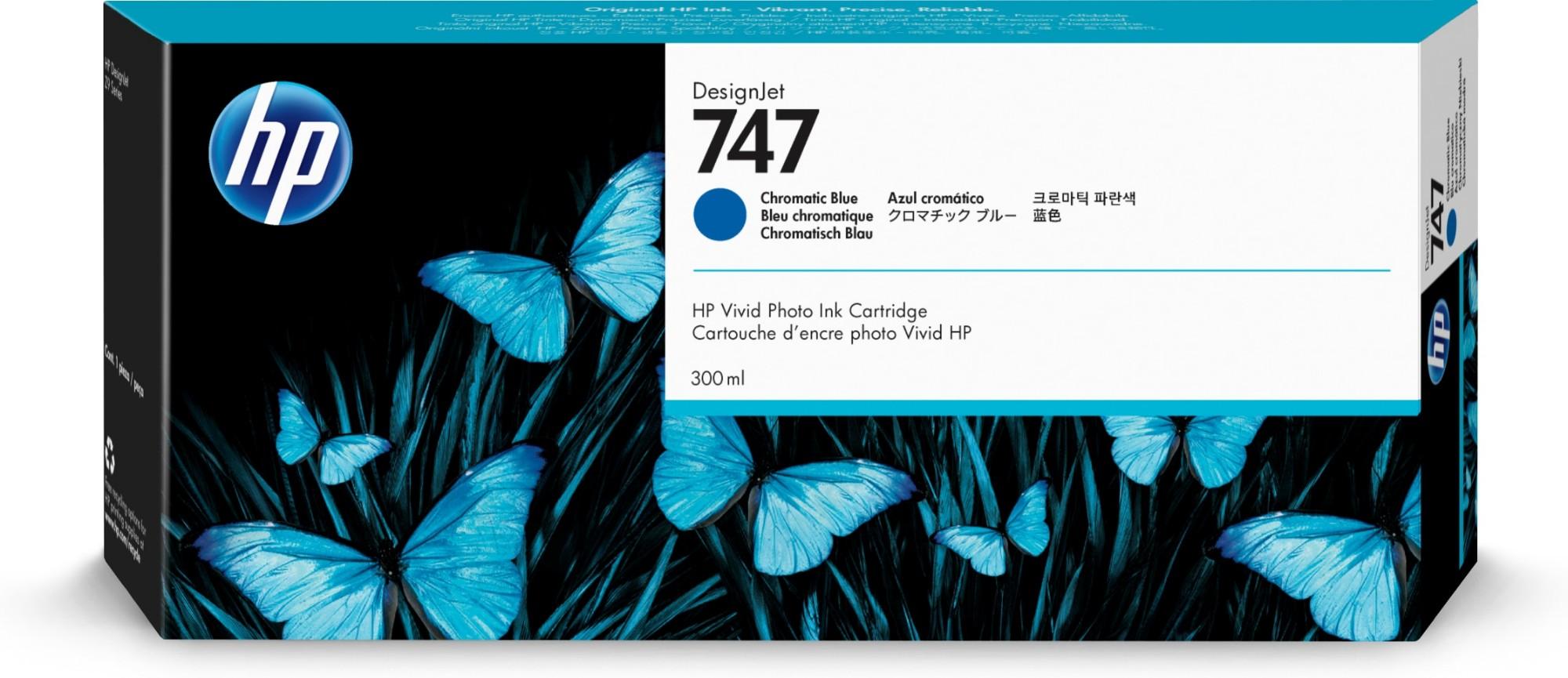 HP 747 Original Azul