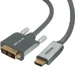 Belkin Cable DVI>HDMI 3m beige 3m Grey