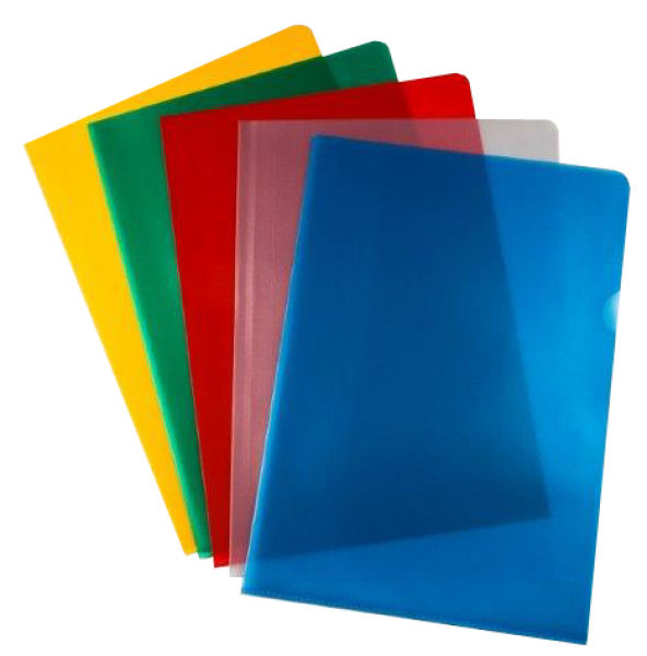 Pro Office Value Cut Flush Folder A4 Assorted Clours 120 Micron PK50