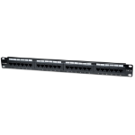 Intellinet Patch Panel, Cat6, UTP, 24-Port, 1U, Black