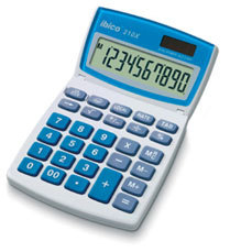 IBICO 210X CALCULATOR DESKTOP BASIC BLUE,WHITE