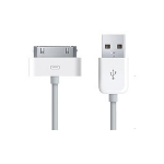 Dynamode USB2.0/30-pin mobile phone cable White USB A Apple 30-pin