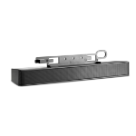 HP NQ576AT Wired 2.0channels 2.6W Black soundbar speaker