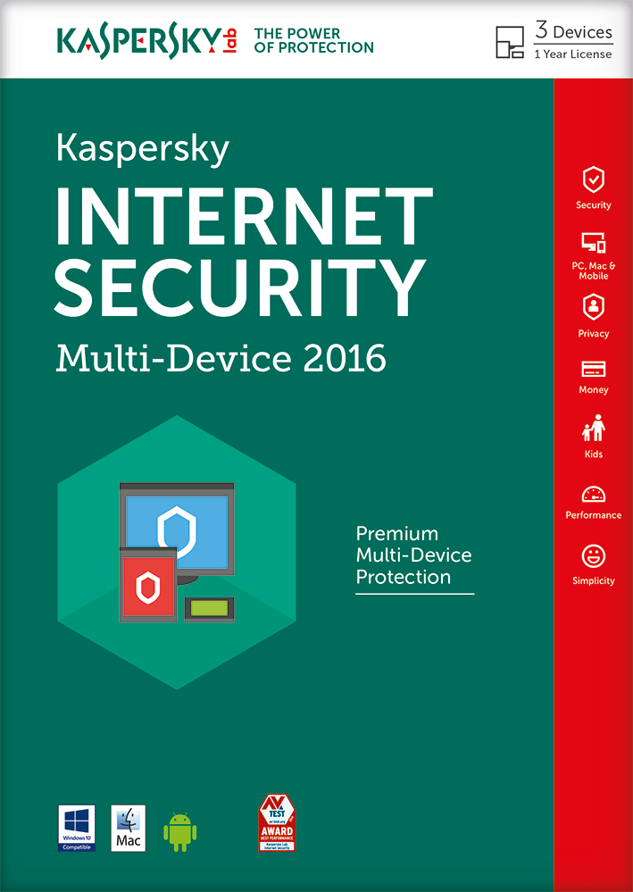 Kaspersky Lab Internet Security - Multi-Device 2016