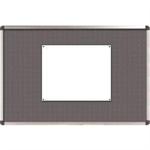 Nobo Classic Felt Noticeboard Grey 1200x900mm