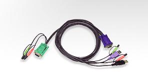 Aten USB KVM Cable cable para video, teclado y ratón (kvm) 3 m Negro