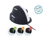 R-Go Tools R-Go HE Break Mouse, Ergonomic mouse, Anti-RSI software, Large (Hand Size above 185mm), Left Handed, Wired