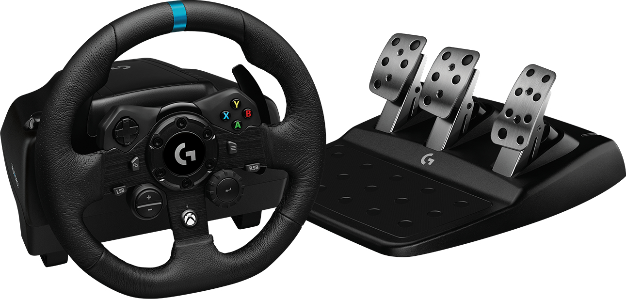 Logitech G G923 Volante + Pedales PC, Xbox 360 USB Negro
