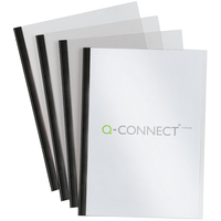 Q-Connect A4 Black 5mm Slide Binder Set