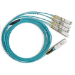 Mellanox Technologies MFA7A50-C003 cable de fibra optica 3 m QSFP 4x SFP28 Turquesa