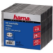 Hama CD Slim Box, black, pack of 25 pcs 1discs Black